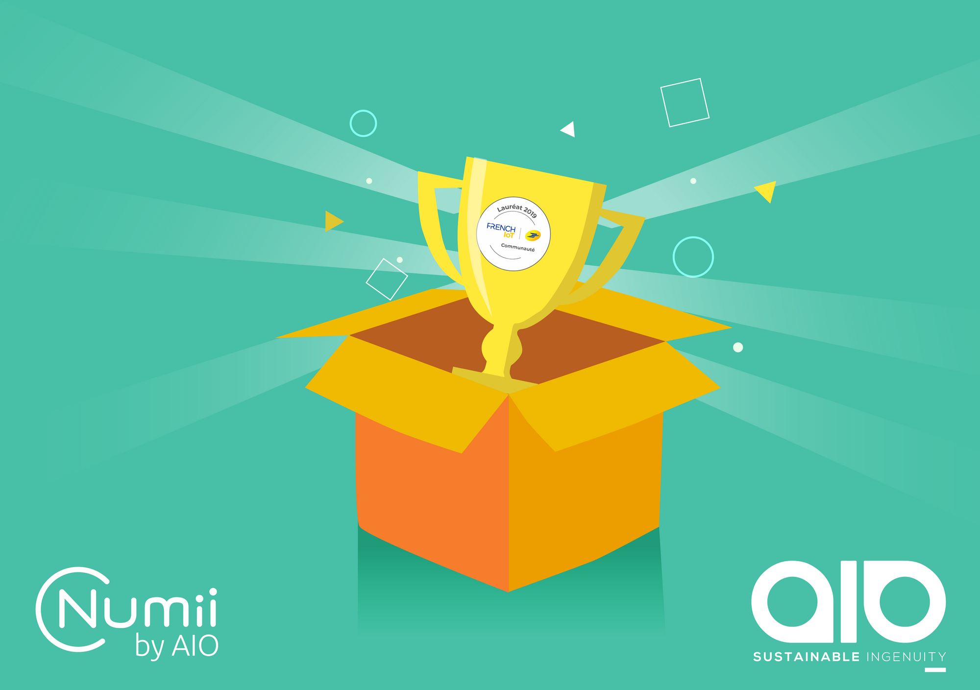 AIO Numii Prize win la poste lauréat French IoT winner