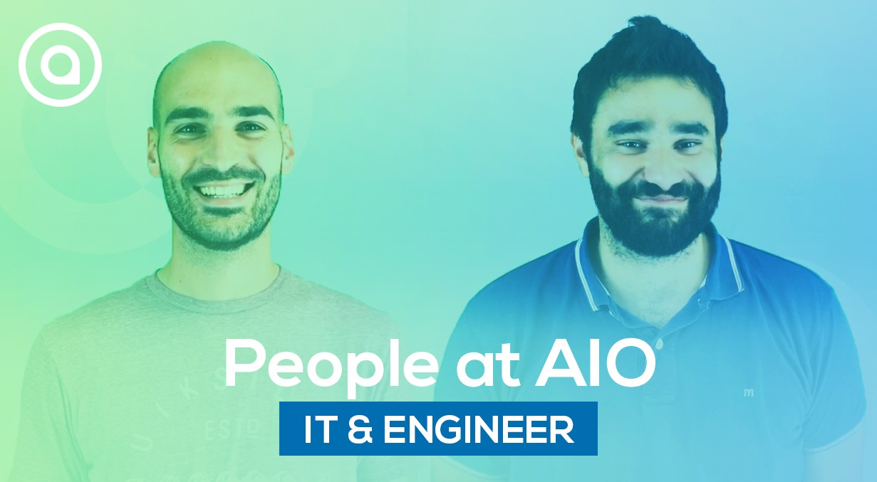 IT developper and mechanical engineer team at AIO people testimony