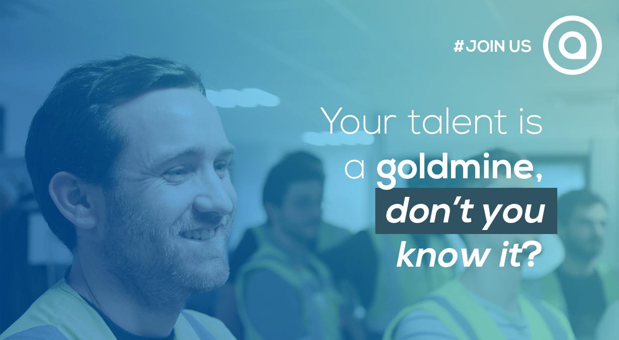 Your talent is a goldmine, don't you know it? recrutement aio karakuri kaizen cv job social recruiting