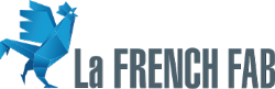 French fab logo with blue rooster